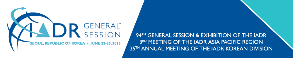2016 IADR/APR General Session & Exhibition