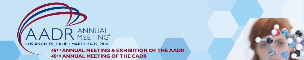 2016 AADR/CADR Annual Meeting & Exhibition